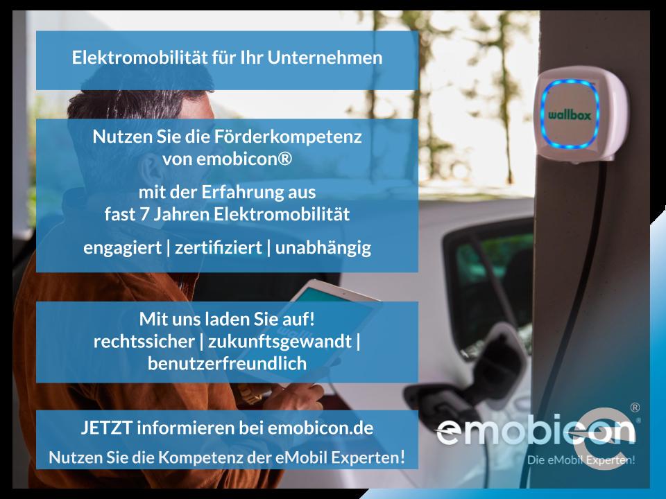 Elektromobilität für Unternehmen | emobicon®