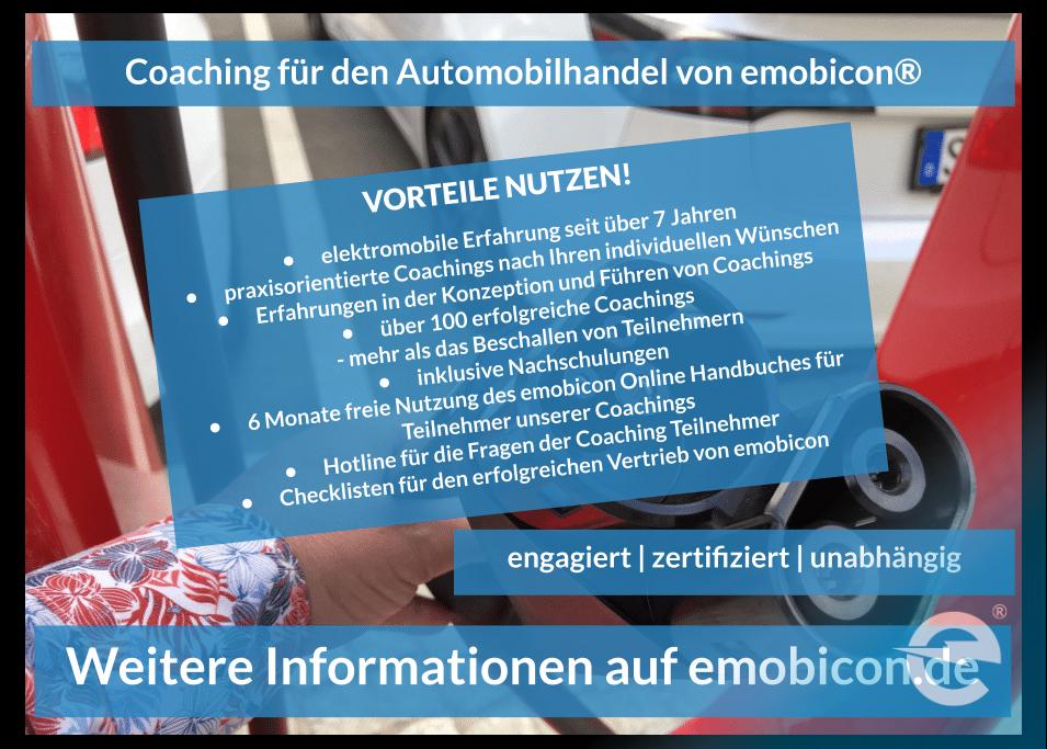 Coachings von emobicon für den Automobilhandel