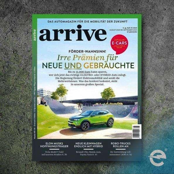 emobicon ist teil des neuen Automagazin ARRIVE