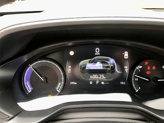 Mazda MX 30 Ladeanzeige